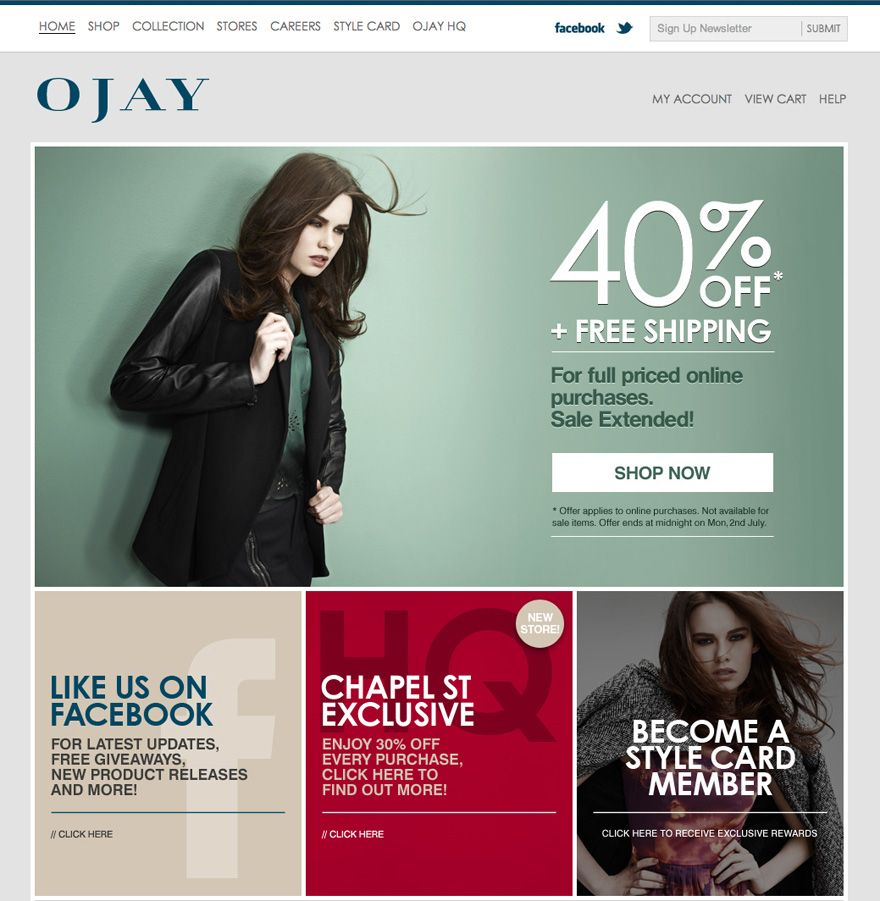 BigCommerce Online Store - OJAY Clothing- bigcommerce features
