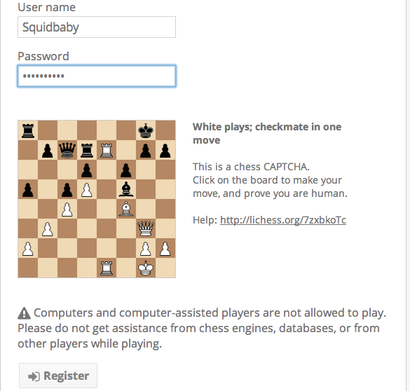 Chess Captcha