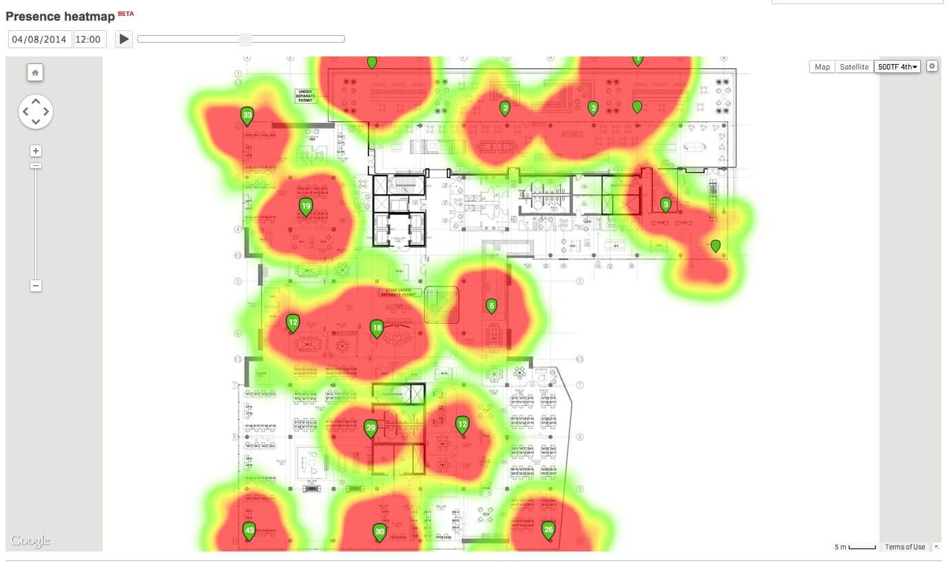 store engagement heatmap cisco meraki