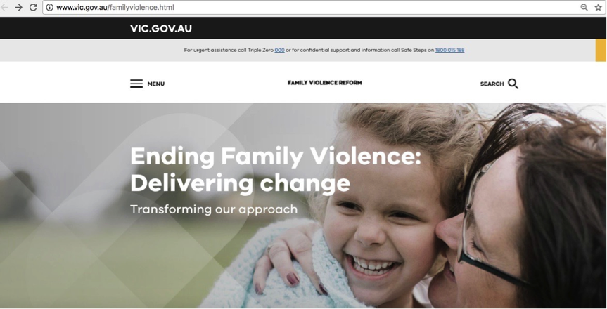 Family Violence Vic Gov