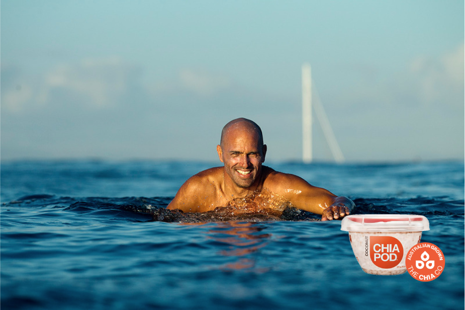 The Chia Co - Surfer Kelly Slater owner of The Chia Co