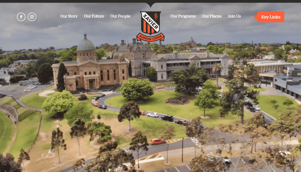 Xavier College - Website Case Study